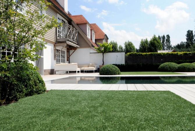 kunstgras/villa/tuin